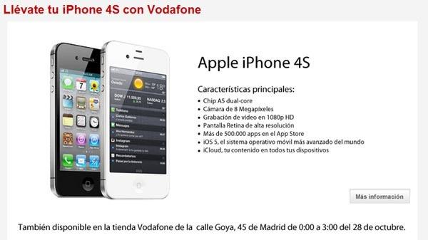 COMPRAR IPHONE 4S VODAFONE