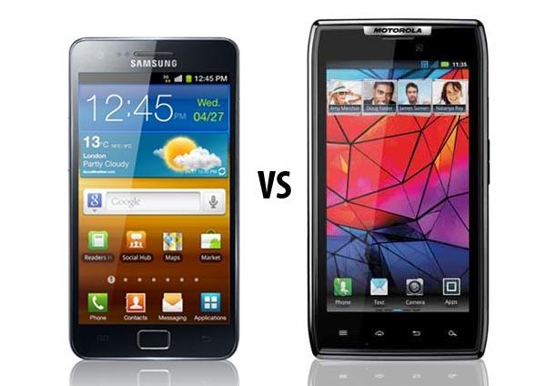 Comparativa: Samsung Galaxy S2 vs Motorola Razr