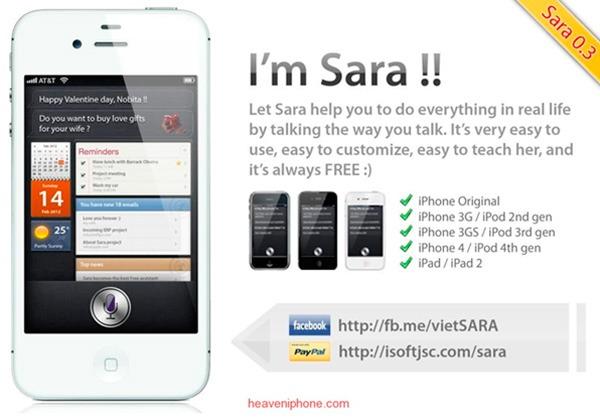 Sara, alternativa a Siri para terminales antiguos como el iPhone 3G