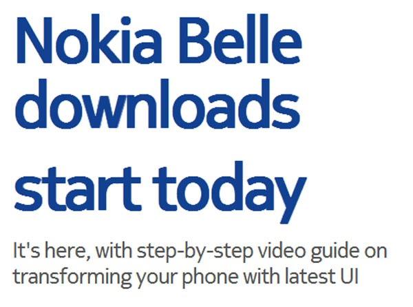 La actualización a Nokia Belle ya está disponible