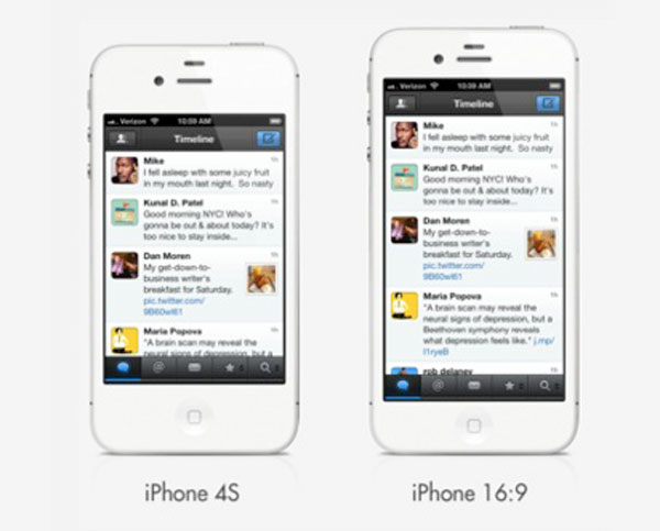 ¿Tendrá el iPhone 5 una pantalla 16:9 de cuatro pulgadas?