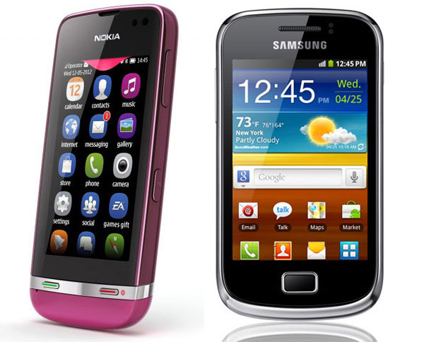 Comparativa: Nokia Asha 311 vs Samsung Galaxy Mini 2