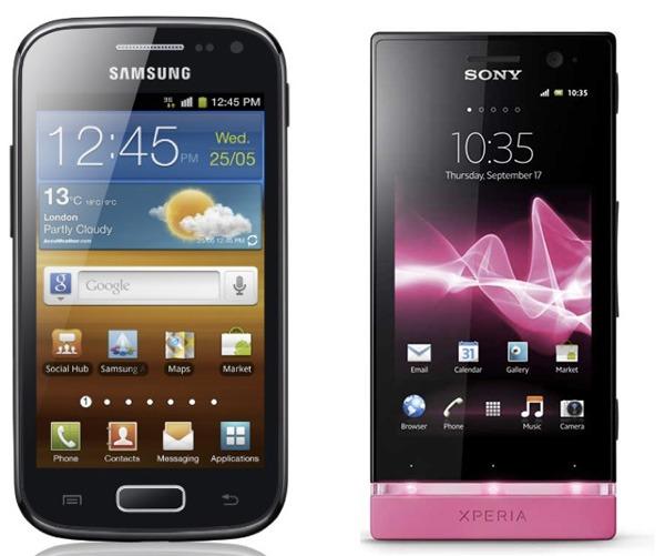 SamsungGalaxyAce2 vs SonyXperiaU 01