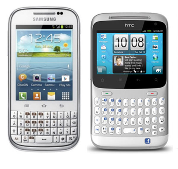 Comparativa: Samsung Galaxy Chat vs HTC ChaChaCha