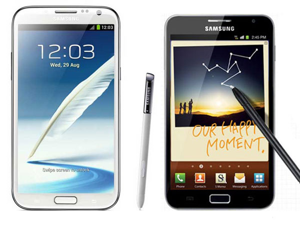 Comparativa: Samsung Galaxy Note 2 vs Samsung Galaxy Note