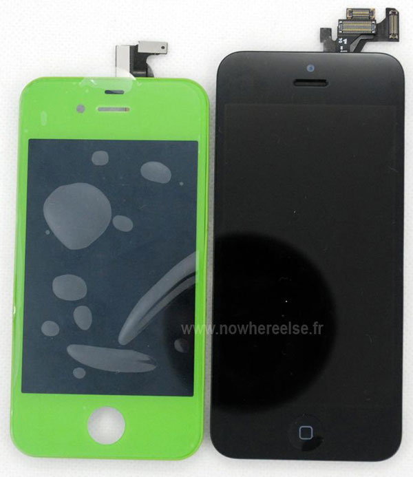 El panel frontal del iPhone 5 comparado con el iPhone 4S