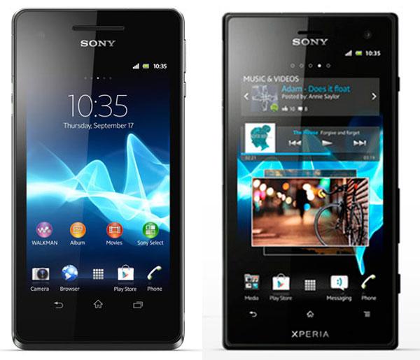 Comparativa: Sony Xperia V vs Sony Xperia acro S