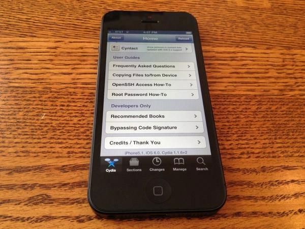 Consiguen aplicar el Jailbreak en un iPhone 5 con iOS 6 el primer día