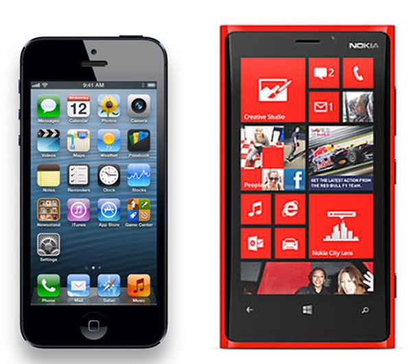 iPhone5 vs NokiaLumia920