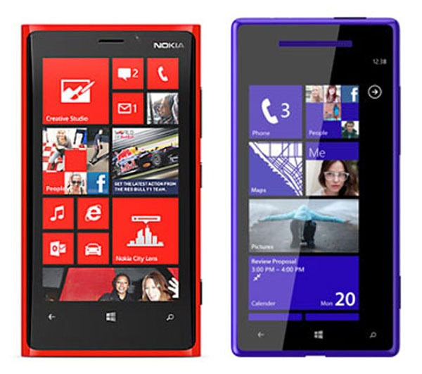 Comparativa, Nokia Lumia 920 vs HTC Windows Phone 8X