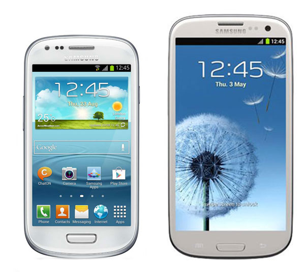 Comparativa, Samsung Galaxy S3 Mini vs Samsung Galaxy S3