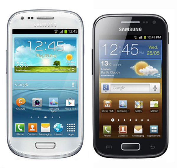 Comparativa, Samsung Galaxy S3 Mini vs Samsung Galaxy Ace 2