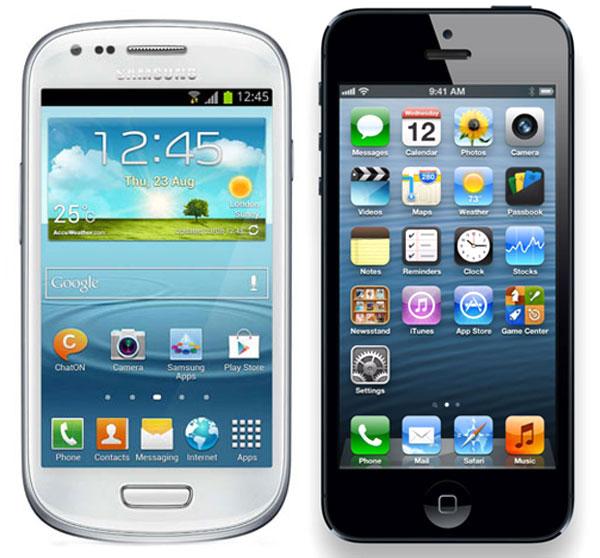 Comparativa, Samsung Galaxy S3 Mini vs iPhone 5