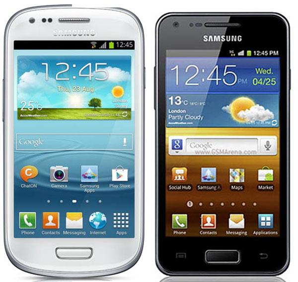 Comparativa, Samsung Galaxy S3 Mini vs Samsung Galaxy S ...  Comparativa, Sa...