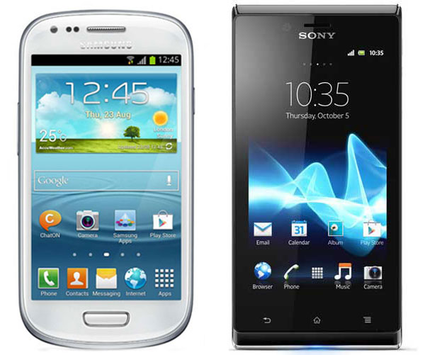 Comparativa, Samsung Galaxy S3 Mini vs Sony Xperia J
