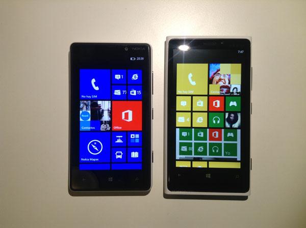 Diferencias entre el Nokia Lumia 920 y el Nokia Lumia 820