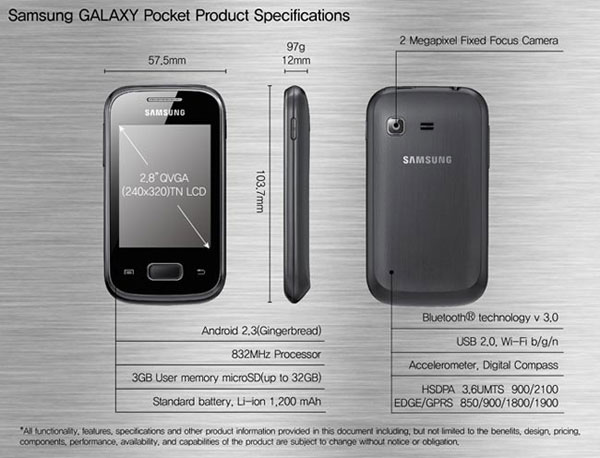 Samsung Galaxy™ Pocket Plus 01
