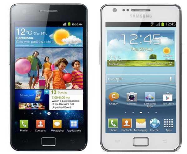 Comparativa Samsung Galaxy S2 vs Samsung Galaxy S2 Plus