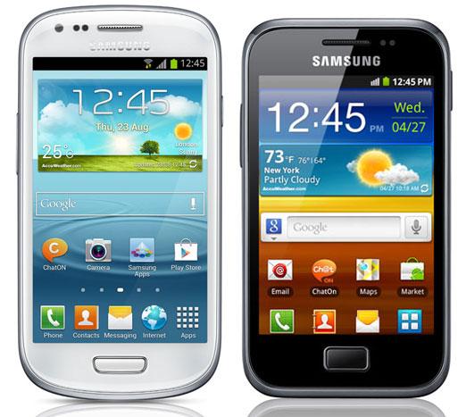 Comparativa, Samsung Galaxy Ace Plus vs Samsung Galaxy S3 Mini