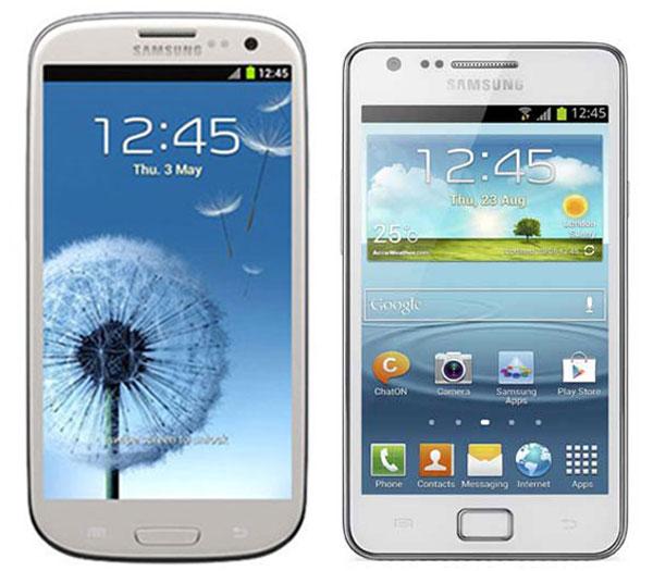 Comparativa, Samsung Galaxy S3 vs Samsung Galaxy S2 Plus