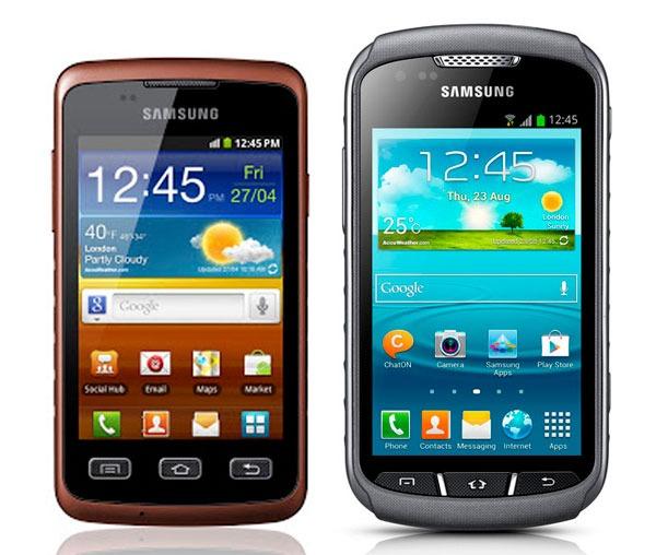 Comparativa, Samsung Galaxy Xcover vs Samsung Galaxy Xcover 2