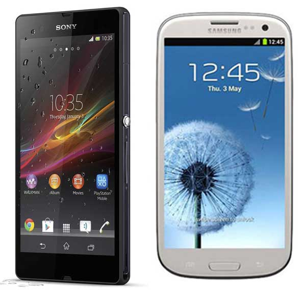 Comparativa, Sony Xperia Z vs Samsung Galaxy S3