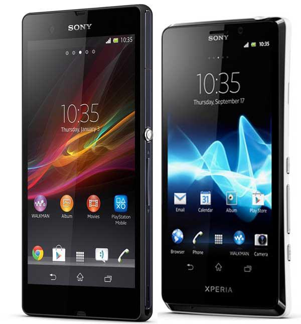 Sony Xperia™ Z vs Xperia™ T 01