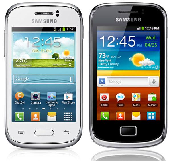 Comparativa Samsung Galaxy Young vs Samsung Galaxy Mini 2