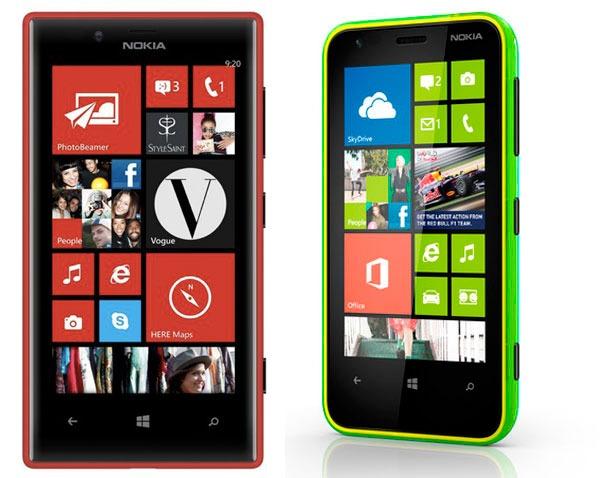 Comparativa Nokia Lumia 720 vs Nokia Lumia 620