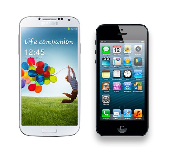 SGS4 vs iPhone5