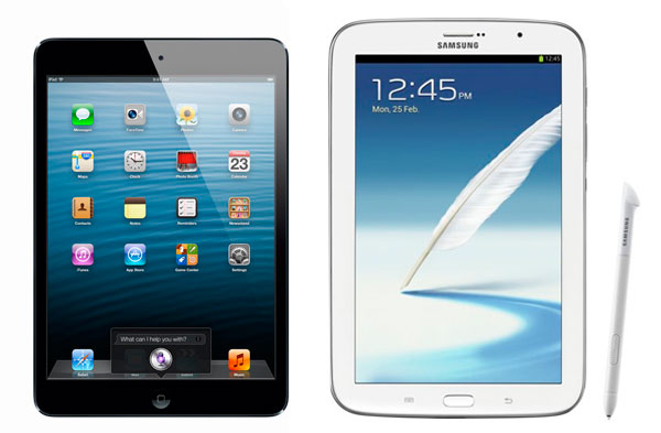 Comparativa Samsung Galaxy Note 8.0 vs iPad Mini