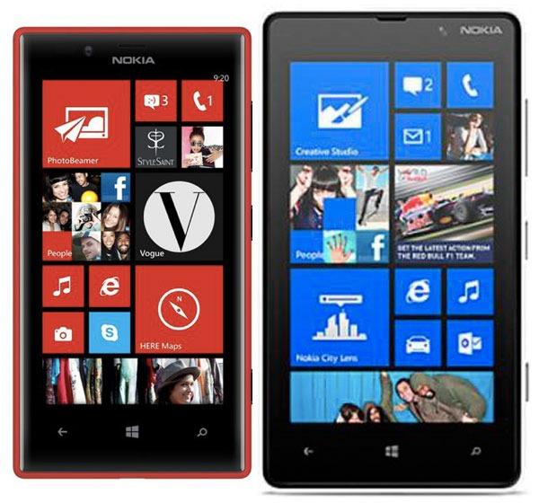 Comparativa Nokia Lumia 720 vs Nokia Lumia 820