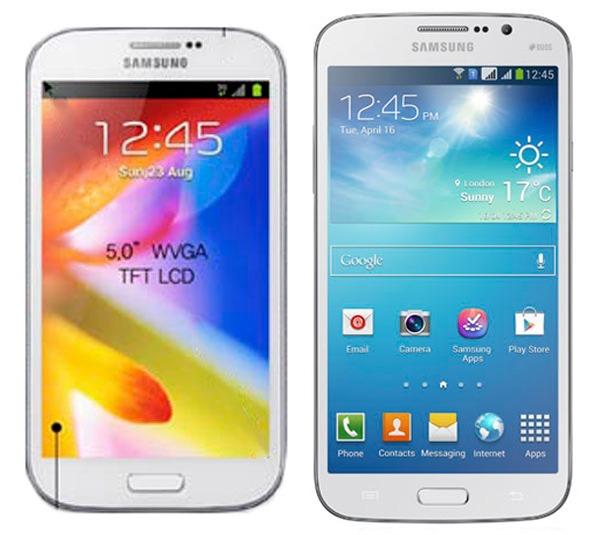 Comparativa Samsung Galaxy Mega 5,8 vs Samsung Galaxy Grand