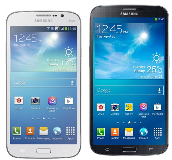 Samsung Galaxy Mega 58 vs 63