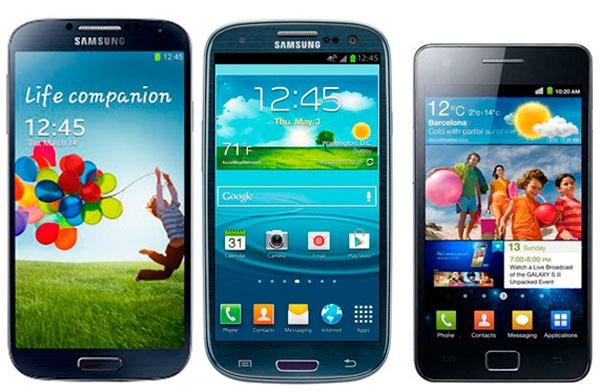 Samsung Galaxy s4 s3 s2