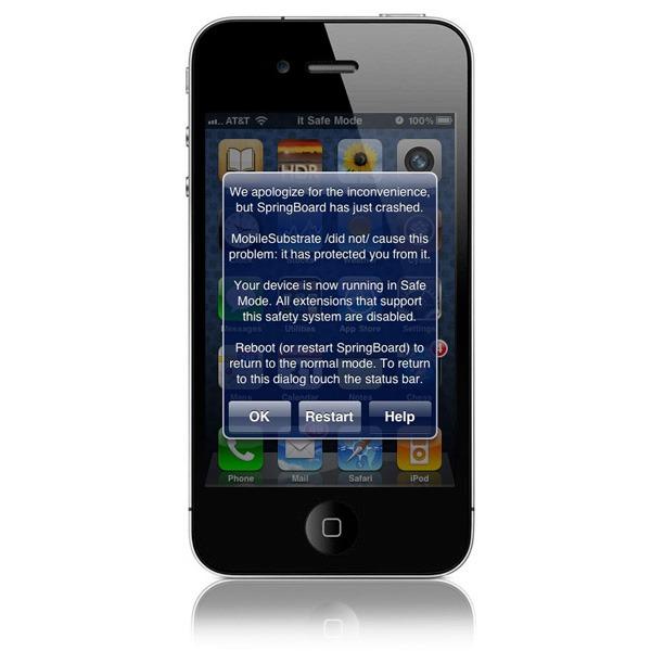 Qué hacer cuando un iPhone con Jailbreak entra en Modo Seguro
