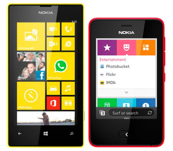 Nokia Asha 501 vs Lumia™ 520