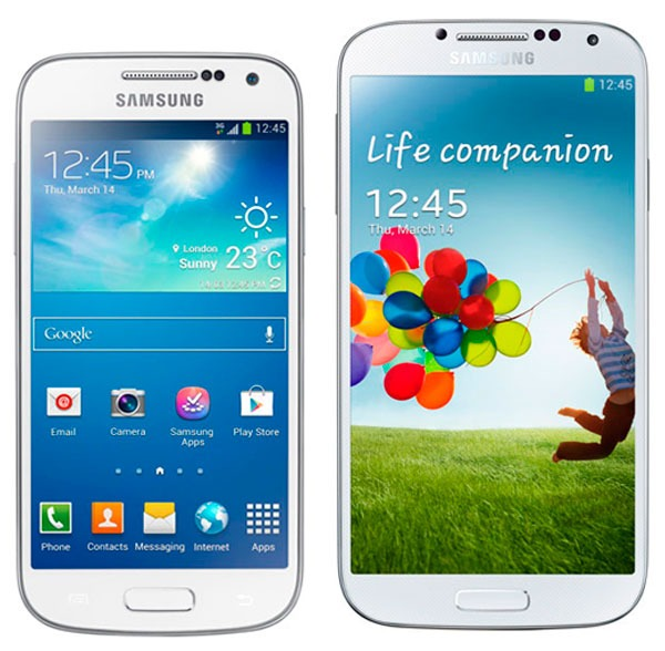 Comparativa Samsung Galaxy S4 Mini vs Samsung Galaxy S4