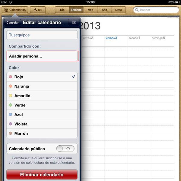 Anadir Calendario Iphone.Como Compartir Calendarios Con Tus Contactos En El Iphone O Ipad