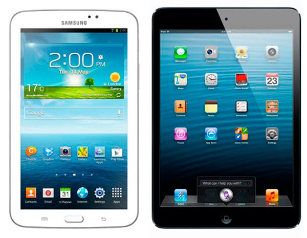 comparativa samsung galaxy tab 3 vs ipad mini. Black Bedroom Furniture Sets. Home Design Ideas