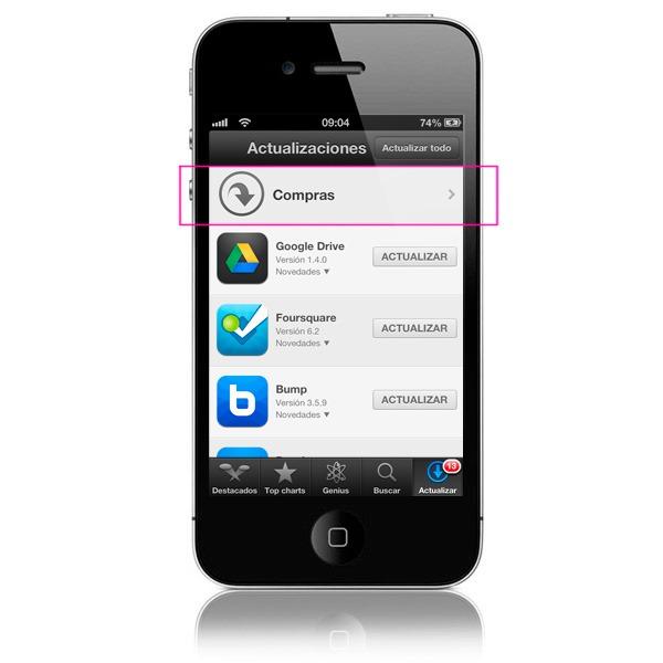Recupera las apps compradas en tu iPhone tras restaurar o actualizar