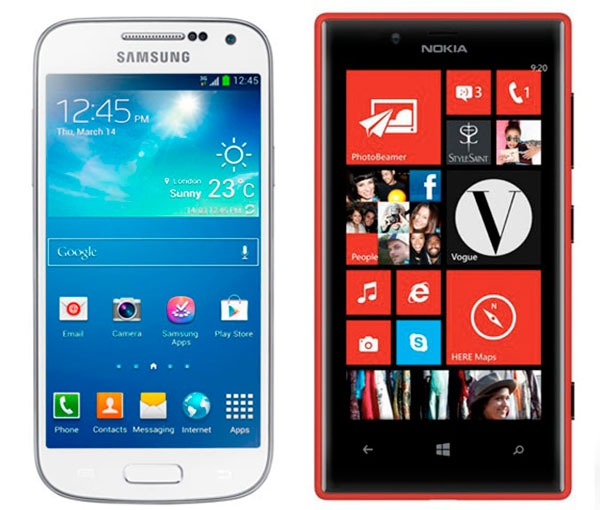 Comparativa Samsung Galaxy S4 Mini vs Nokia Lumia 720