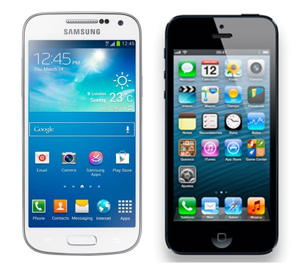 Comparativa Samsung Galaxy S4 Mini vs iPhone 5