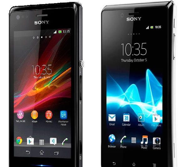 Comparativa Sony Xperia M vs Sony Xperia JXperia L Vs Xperia M