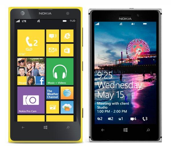 Comparativa Nokia Lumia 1020 vs Nokia Lumia 925