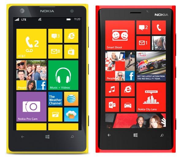 Comparativa, Nokia Lumia 1020 vs Nokia Lumia 920