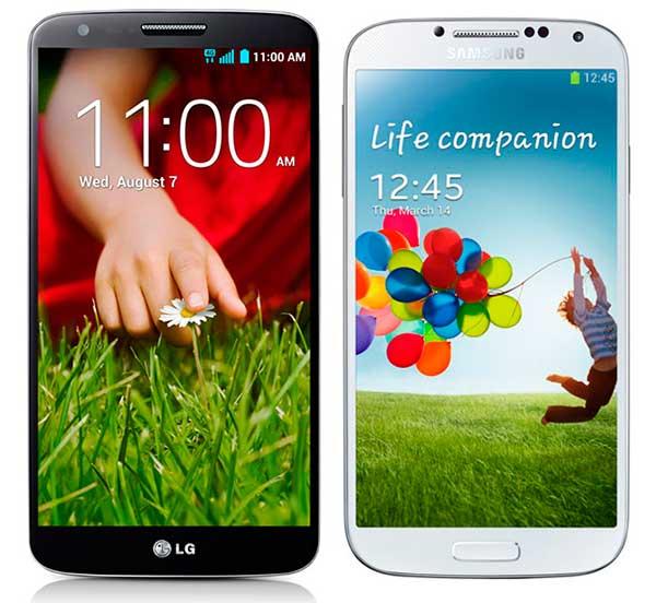 Comparativa LG G2 vs Samsung Galaxy S4