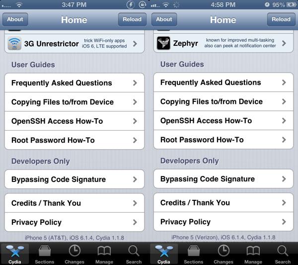 Consiguen aplicar el Jailbreak en un iPhone 5 con iOS 6.1.4
