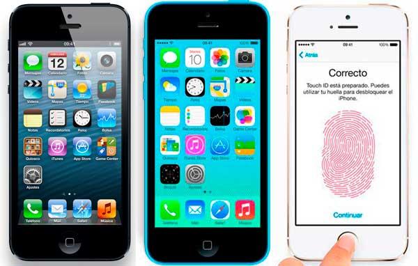 Comparativa: iPhone 5, iPhone 5C y iPhone 5S