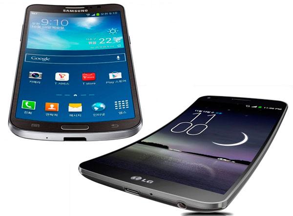 Comparativa Samsung Galaxy Round vs LG G Flex